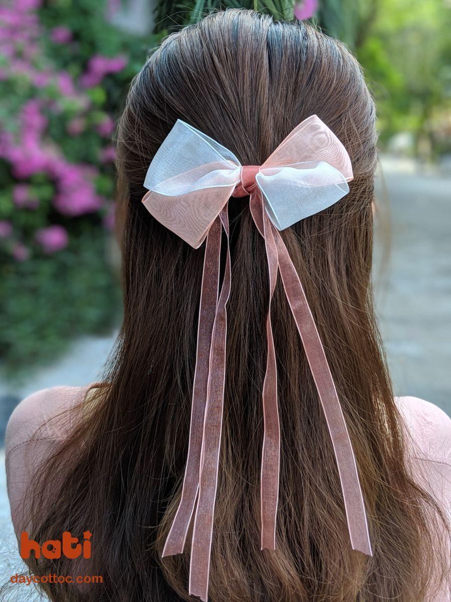 Kẹp tóc nơ dáng dài K1