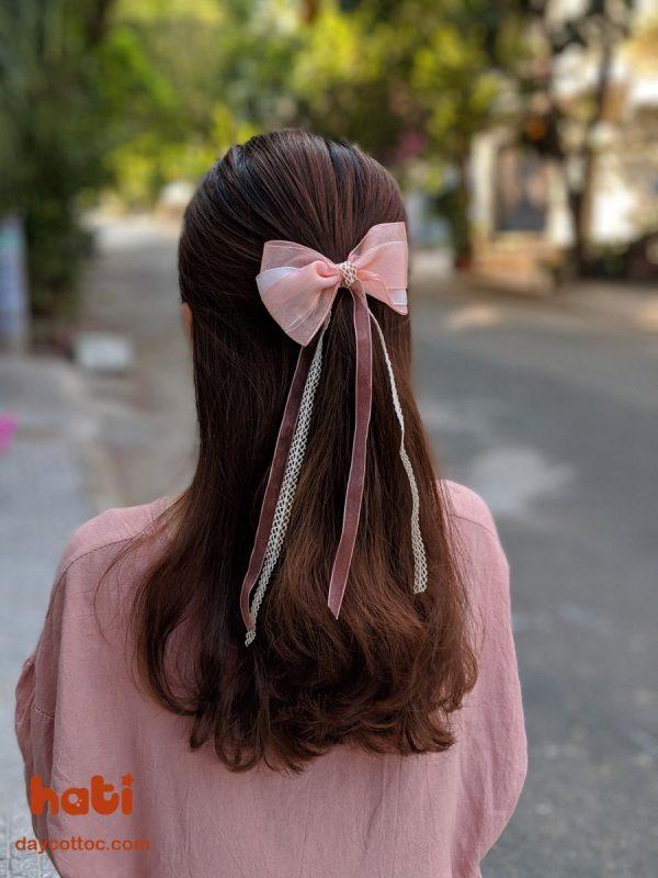 Kẹp tóc nơ dáng dài K2