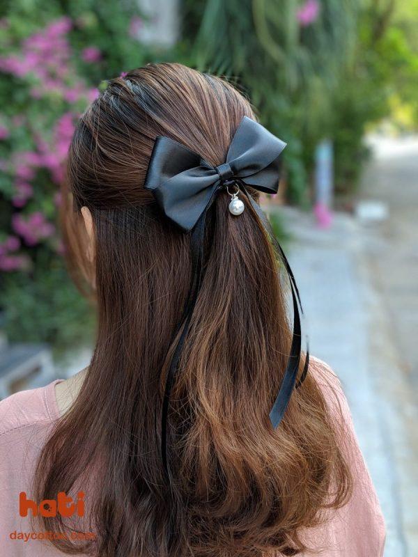 Kẹp tóc nơ dáng dài K5