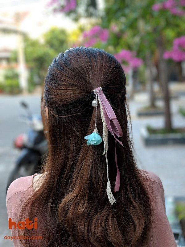 Dây cột tóc hoa rơi R4