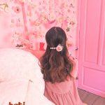 kẹp tóc đính đá kèm hoa