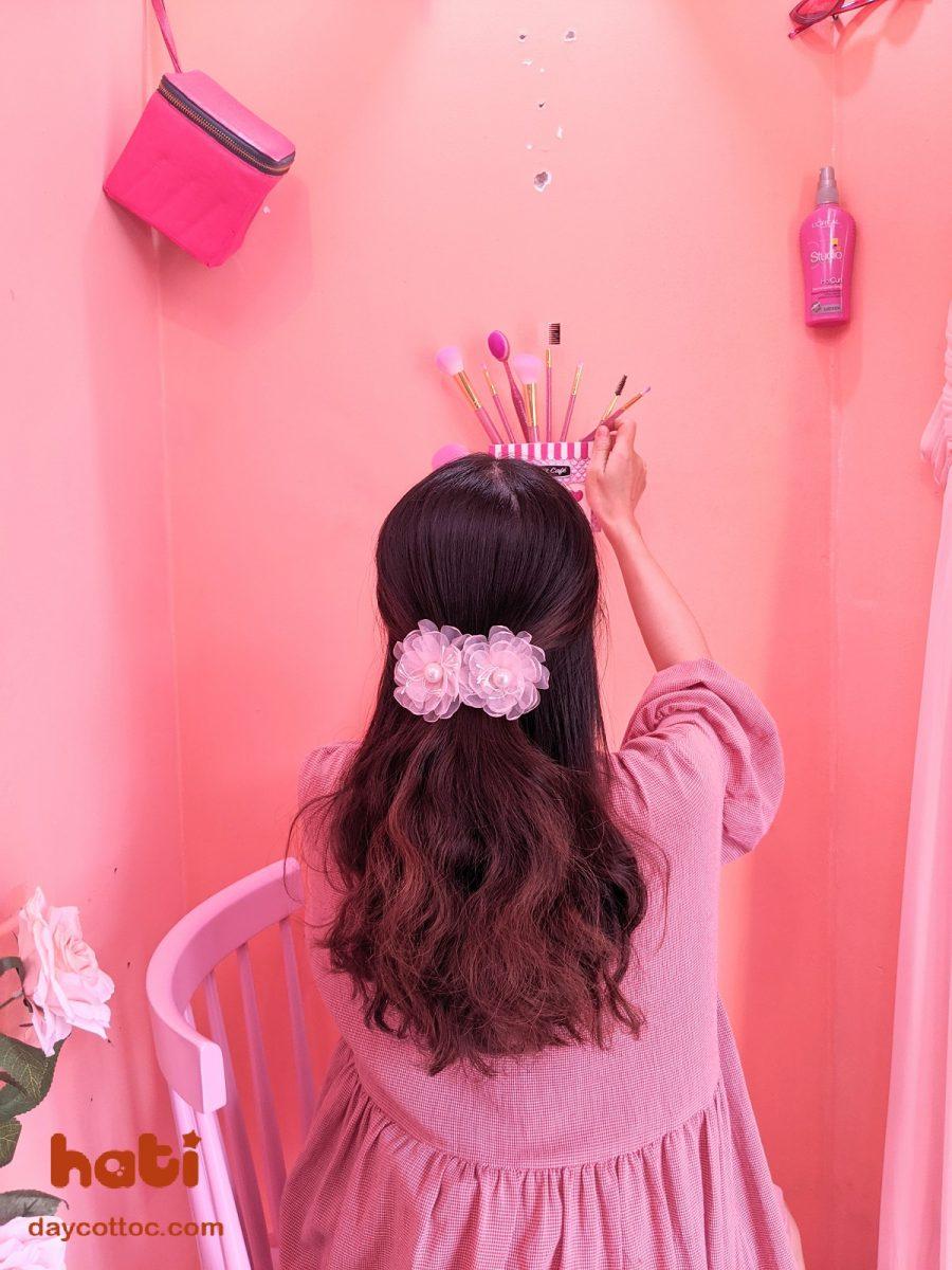 kẹp tóc đính hoa