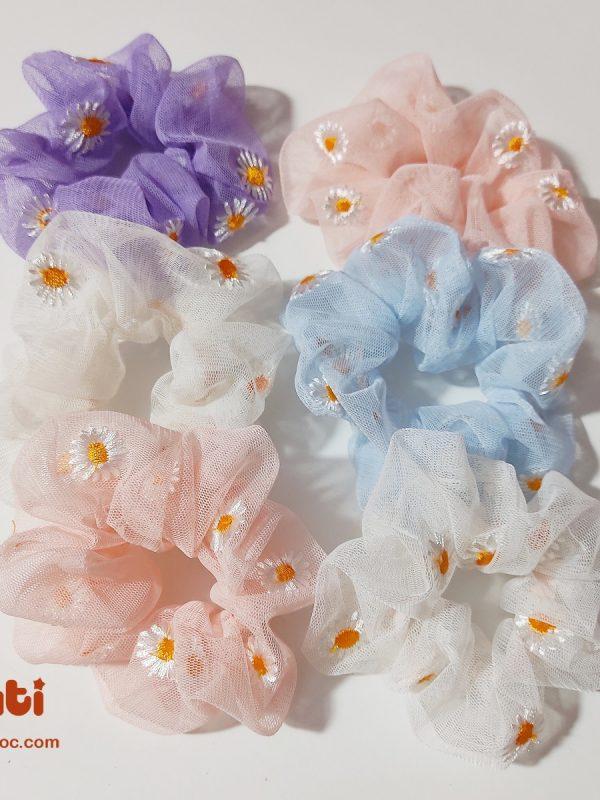 scrunchies hoa cúc